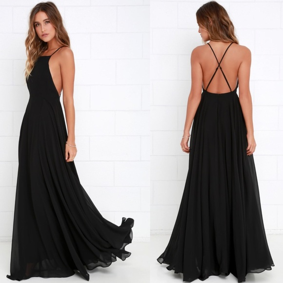 640bf4f64b Lulu s Dresses   Skirts - Mythical Kind of Love Black Maxi Dress